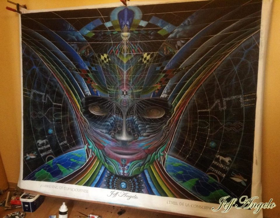 jeff angelo live paint art for ozora