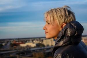 Houston Photographer – City Roof Top Portrait