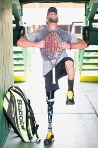Jeff Bourns is an American Amputee Tennis player who is currently ranked fourth in the world, Category A.