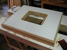 ...and the top ready for the router plate.