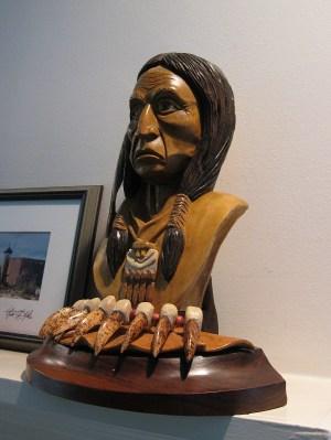 An impressive indian sculpture.