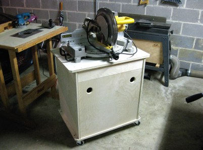 The base of the miter saw stand.