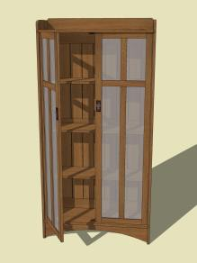 Arts and Crafts Bookcase 1