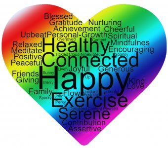 A rainbow coloured happy heart