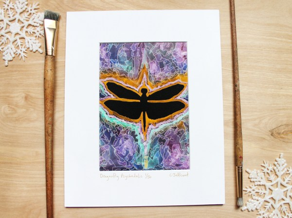 colorful dragonfly wall decor