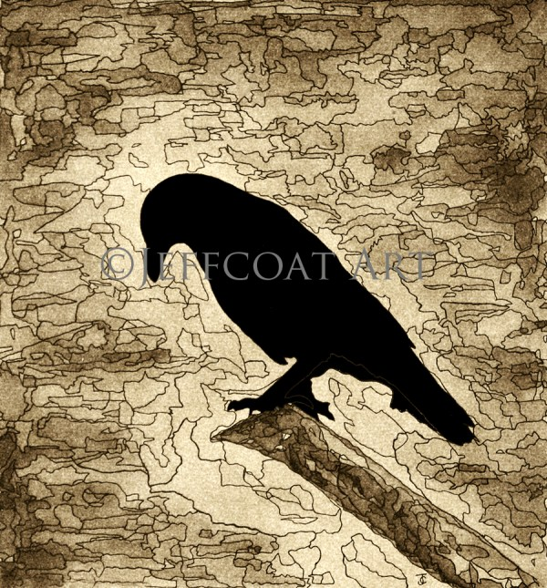 Raven Sepia Limited Edition print by Jeffcoat Art