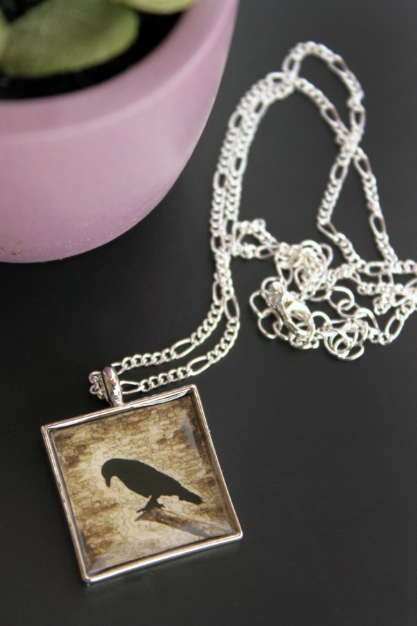 Raven Sepia necklace by Jeffcoat Art