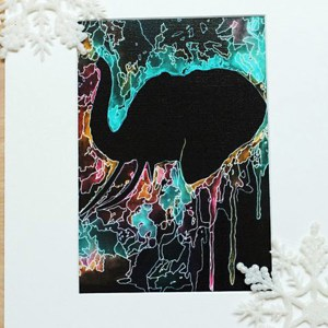 Elephant Psychedelic Wall Art