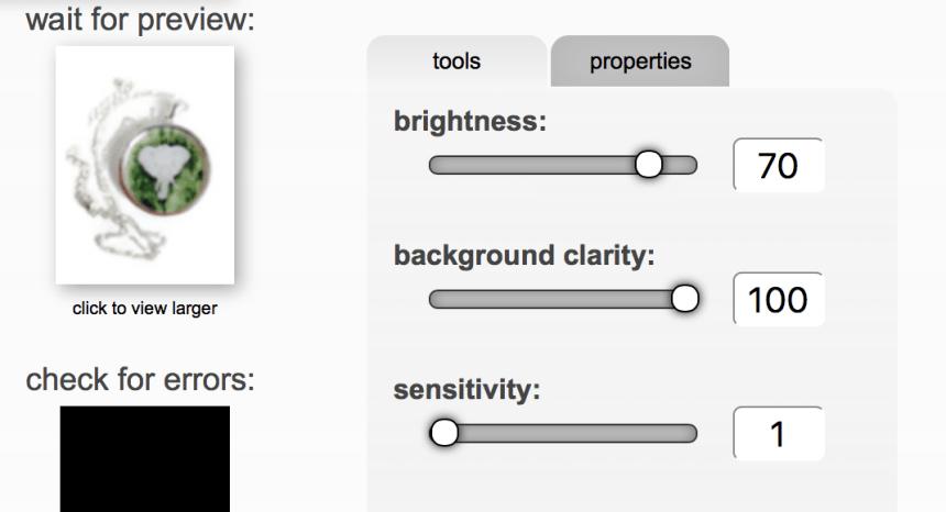 screen capture of FotoFuze editing process