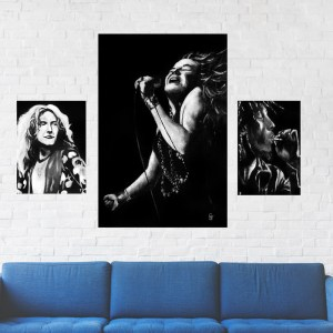 Janis Joplin,Robert Plant,Bob Marley Wall Art by Jeffcoat Art