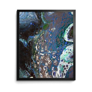 Drift Deeper Acrylic Pour print by Jeffcoat Art