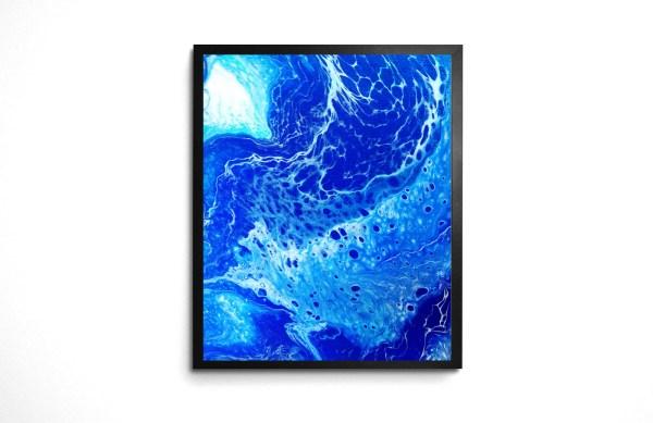 Waterskin Acrylic Pour print by Jeffcoat Art