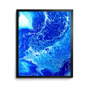 Waterskin Acrylic Pour print by Jeffcoat Art