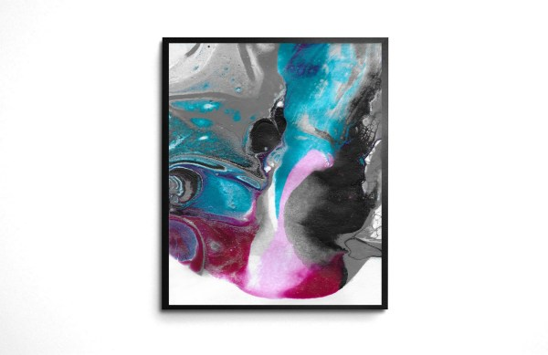 Starlight Soon acrylic pour print by Jeffcoat Art