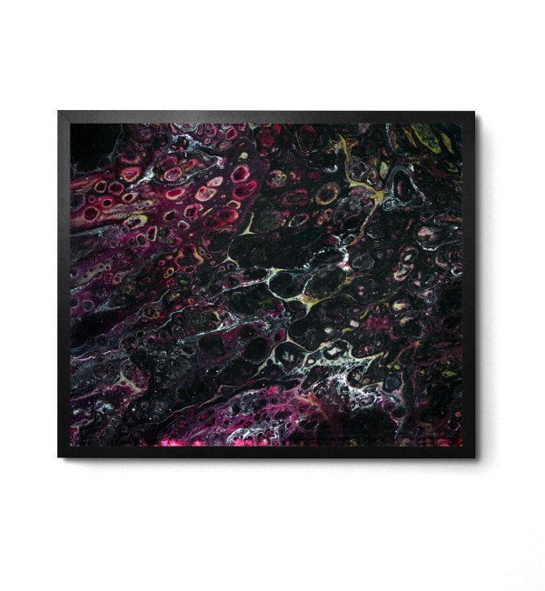 Unknown acrylic pour print by Jeffcoat Art
