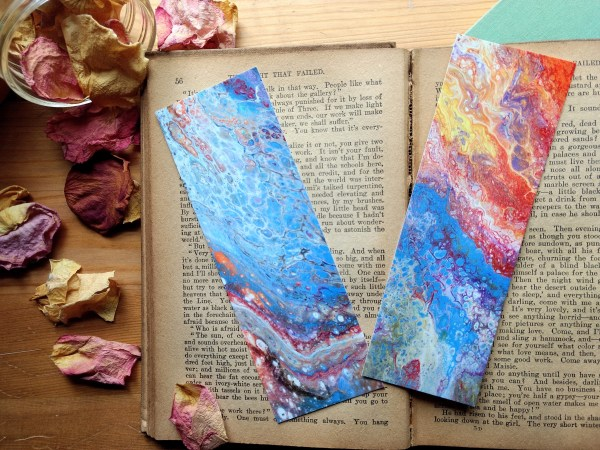 Bookmarks- Acrylic Pour by Jeffcoat Art