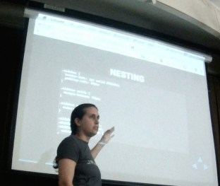 """Tracy Rotton delivers """"CSS Preprocessors + WordPress"""" with sass."""