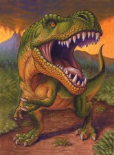 Tyranosaurus Rex birthday card for Peaceable Kingdom by Jeff Crosby
