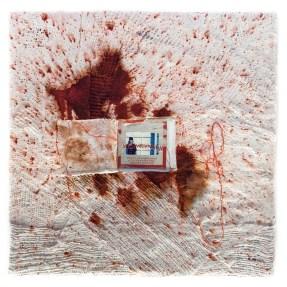 Cradled Wood Panel - 35mm Slides - Medical Gauze - Plaster - Dye - 10x10x1 inches - 2015