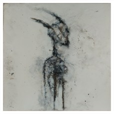 Figure #11 - Cradled Wood Panel - Encaustic - Cinders - Ash - 24x24x1 inches - 2017