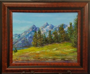 The Tetons - 16x20, Oil, $550