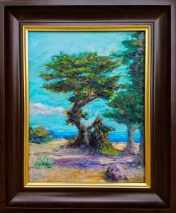 The Tree in Monterey - 11x14, Oil, $325