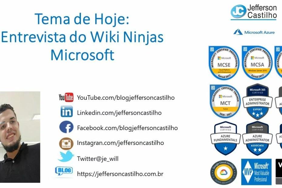Entrevista do Wiki Ninjas Microsoft