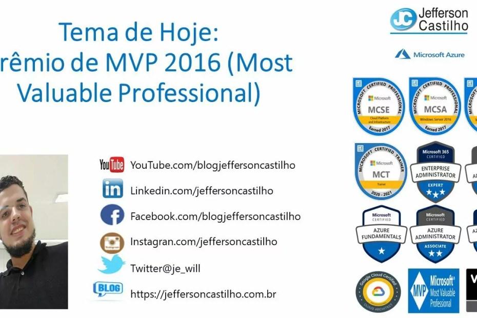 Prêmio de MVP 2016 Most Valuable Professional
