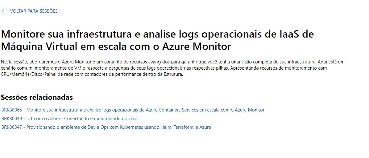 Palestra Ignite 2019 – VM com Azure Monitor