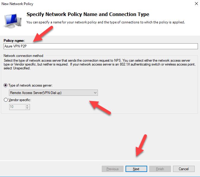 Configurando o NPS Radius para VPN Point to Site