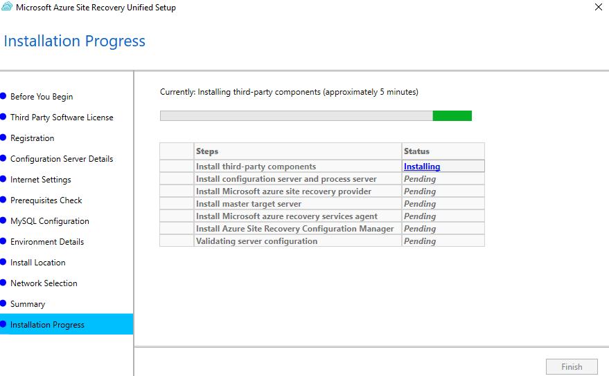 Atualizando o Configuration Server DR Azure to VMware