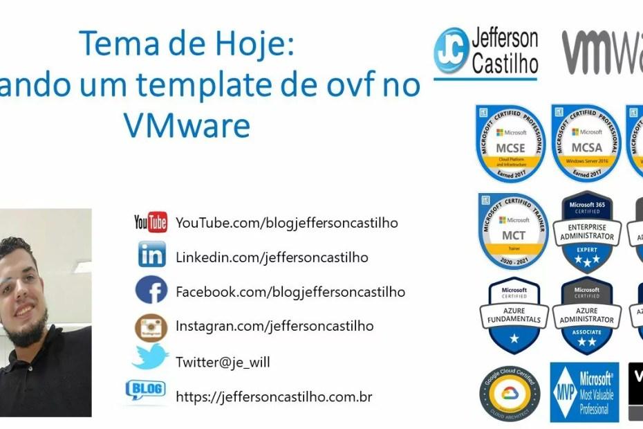 Criando um template de ovf no VMware