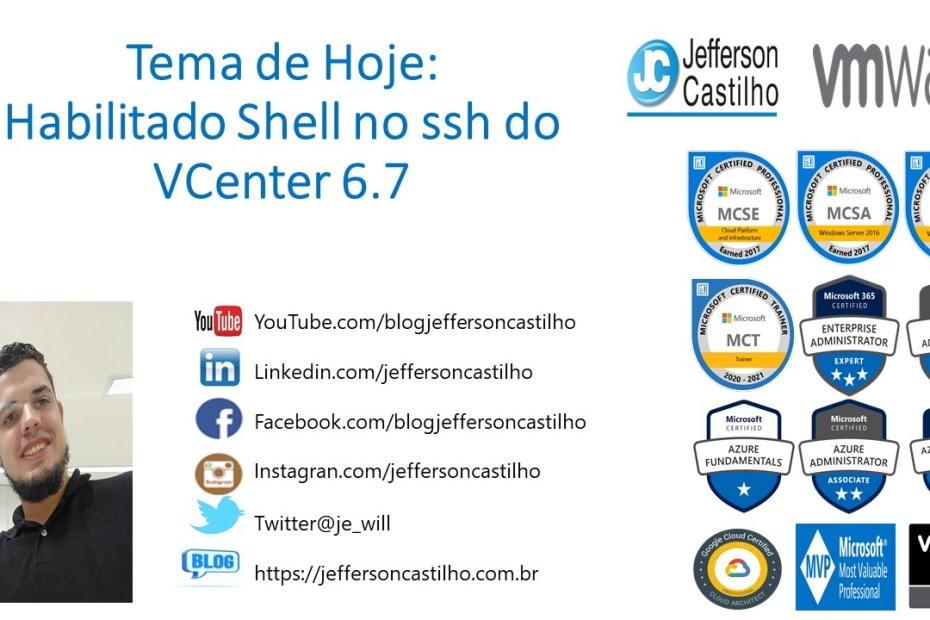 Habilitado Shell no ssh do VCenter 6.7