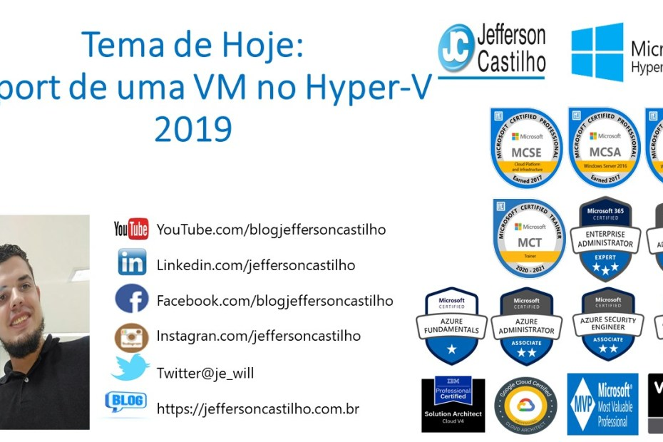 Import de uma VM no Hyper-V 2019