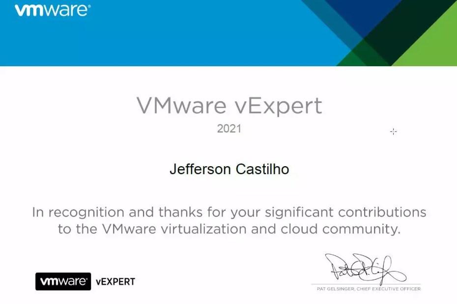 Mais um ano no vExpert da VMware