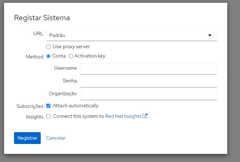 Ativando RedHat Enterprise 8.4 no Azure