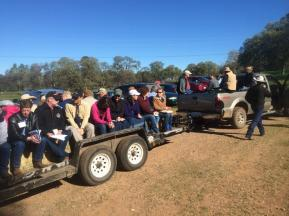Touring Guidici Ranch, thanks to host Dr. Cyndi Daley. Photo by Darby Heffner.
