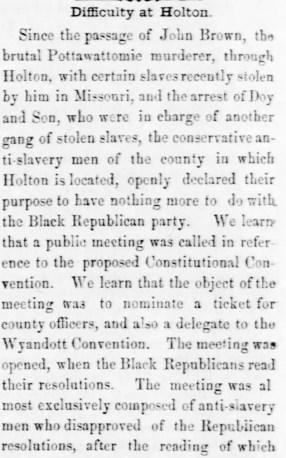 Brutal murderer Brown Kansas_National_Democrat_Thu__Mar_31__1859_