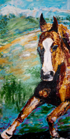Galloping Pastures   Acrylic on Canvas