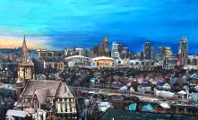 """St. John and Cincinnati   30"""" x 48"""" Acrylic on Canvas ~ NFS"""