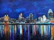 "Cincinnati in July   30"" x 40"" acrylic on canvas ~ SOLD"