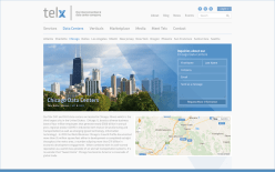 Telx.com home screen layout. National data center company in New York. https://web.archive.org/web/20140227011630/http://www.telx.com/