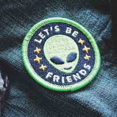 "Alien Patch - ""Lets Be Friends"""