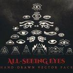 all seeing eyes vector art