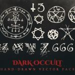dark occult vector graphics