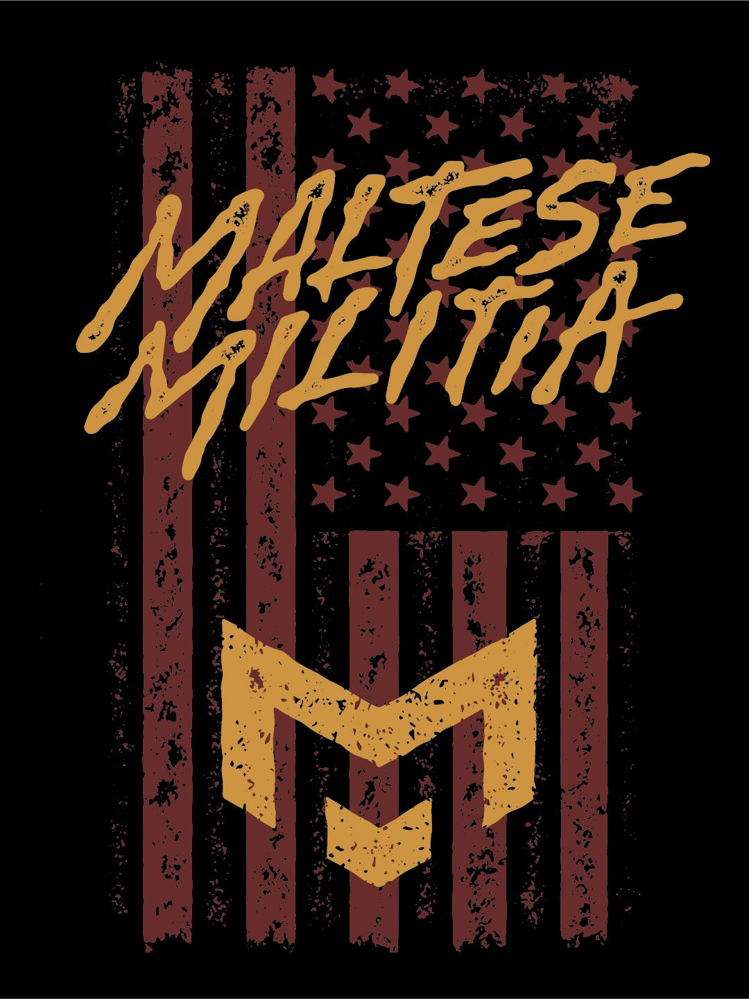 Maltese Militia shirt design by Jeff Finley
