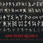 ancient runes vector illustrations