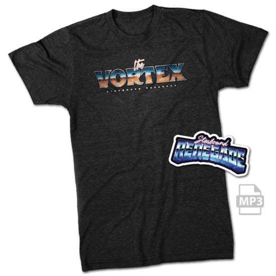The Vortex t-shirt and sticker combo pack