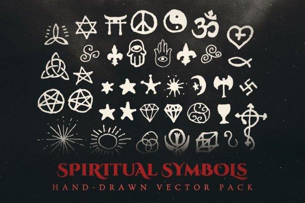 spiritual symbols vector pack
