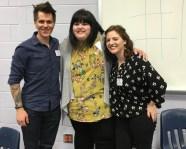 Me, Julie Murphy, and Kelly Zekas